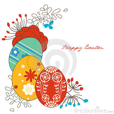 壁角装饰复活节彩蛋