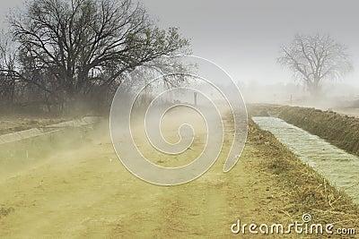 шторм размывания пыли