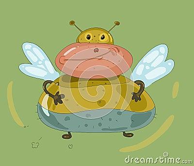 εύθυμη παχιά μύγα