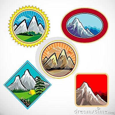 символ абстрактной горы холмов установленный
