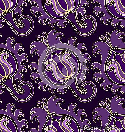 模式无缝的紫罗兰