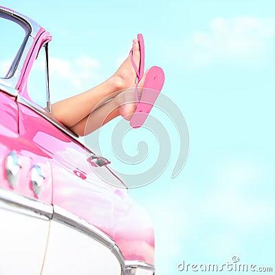 汽车乐趣夏天葡萄酒