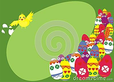 鸡构成复活节