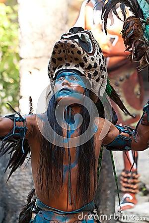 玛雅的舞蹈 编辑类照片