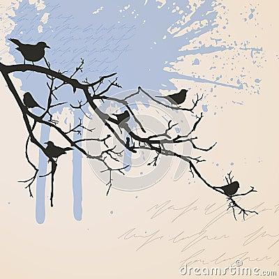 κλάδος πουλιών