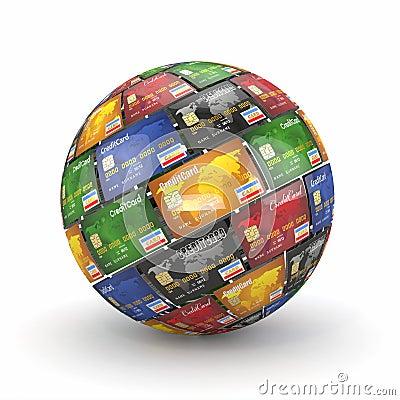 сфера глобуса кредита карточек