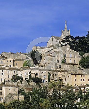 法国小山顶村庄