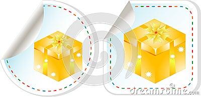вектор самомоднейшего сбывания праздника подарка конструкции коробки установленный