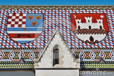 教会标记屋顶圣徒