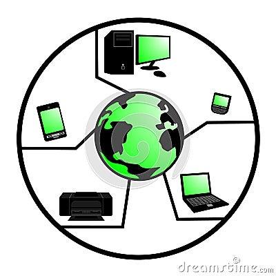 κόσμος τεχνολογίας εικονιδίων