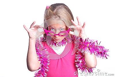 κορίτσι λίγο ροζ συμβαλλόμενων μερών αρκετά