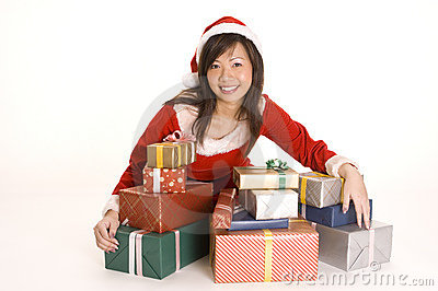 错过俏丽的圣诞老人