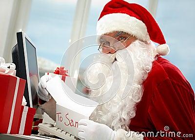 工作圣诞老人