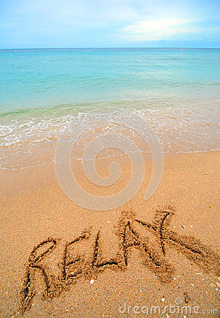 χαλαρώστε την άμμο γραπτή