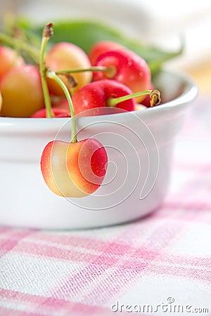 甜的樱桃弄湿了