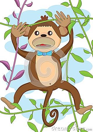 χαριτωμένος πίθηκος