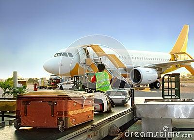 αποσκευές χειρισμού αερολιμένων