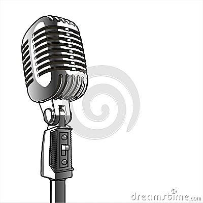 сбор винограда вектора микрофона