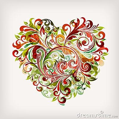 флористическое сердце