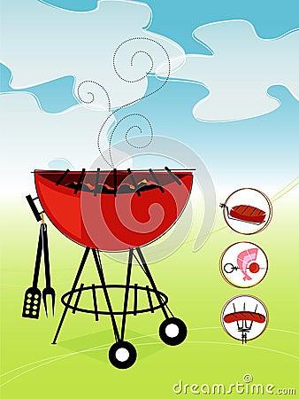 烤肉减速火箭的向量