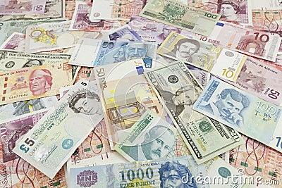 外部钞票的货币 编辑类库存图片