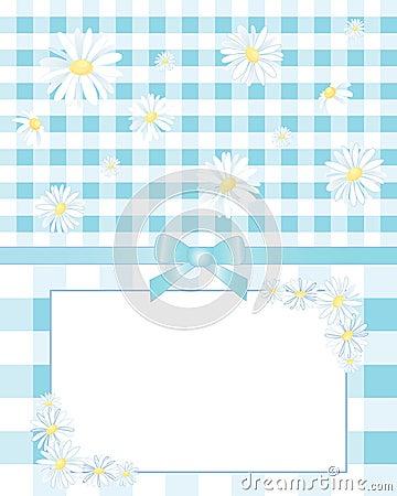 方格花布和雏菊