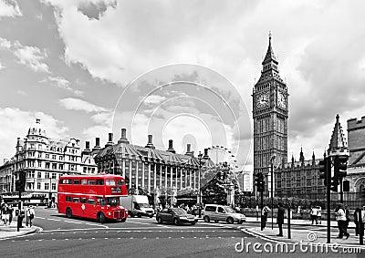 伦敦公共汽车 编辑类库存图片