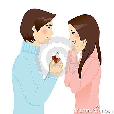 Предлагать замужество
