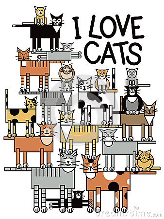Я люблю котов