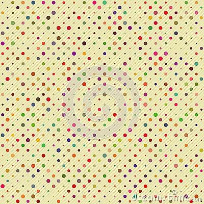 无缝的圆点花样的布料模式