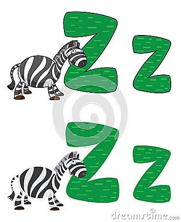 Με ραβδώσεις γραμμάτων Ζ