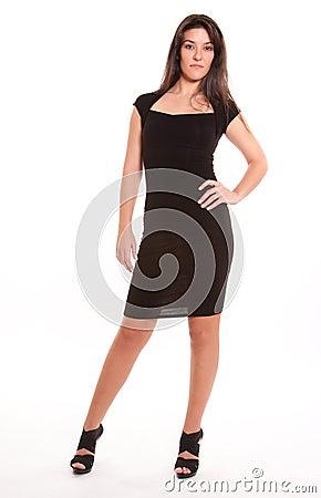 Немногая черное платье