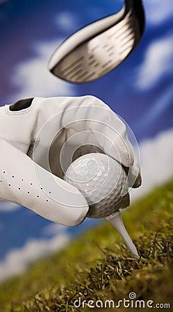 高尔夫球发球区域
