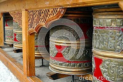 Буддийские колеса молитве