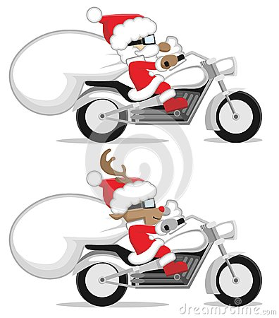 Санта и северный олень