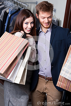 Положительная пара в магазине