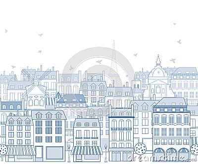 Городской пейзаж Париж