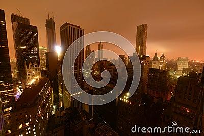 街市曼哈顿动力故障由于桑迪 编辑类照片