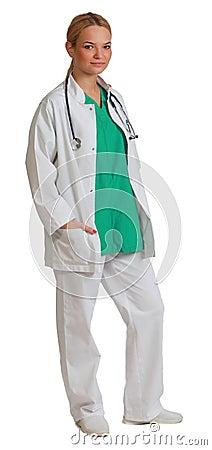 Доктор молодой женщины