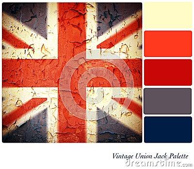 葡萄酒英国国旗调色板