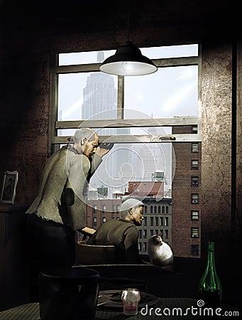 Старый наблюдать пар