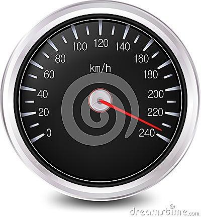 汽车车速表。 向量