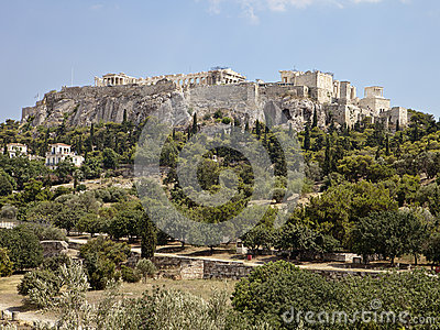 Ακρόπολη από την αγορά της Αθήνας