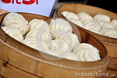 中国蒸的小圆面包