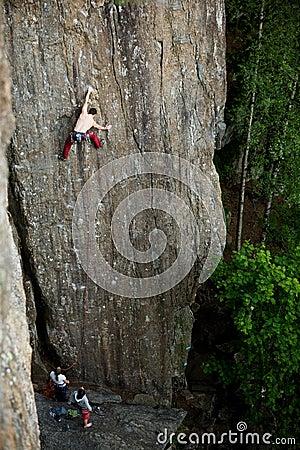 αναρρίχηση του βράχου