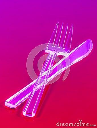 Μίας χρήσης μαχαίρι και δίκρανο