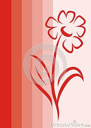 красный цвет цветка