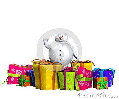 Χιονάνθρωπος στο χιόνι