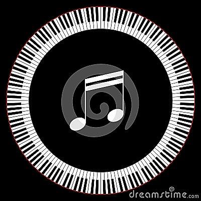 Круг ключей рояля