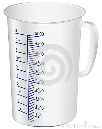 Измеряя чашка